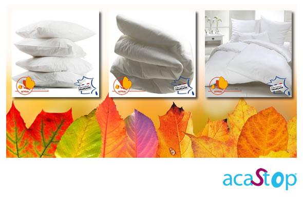 L'automne voit le retour en force des acariens, protégez vous avec  ACASTOP