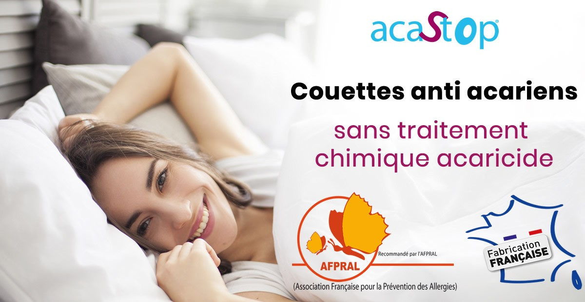 Couettes anti acariens